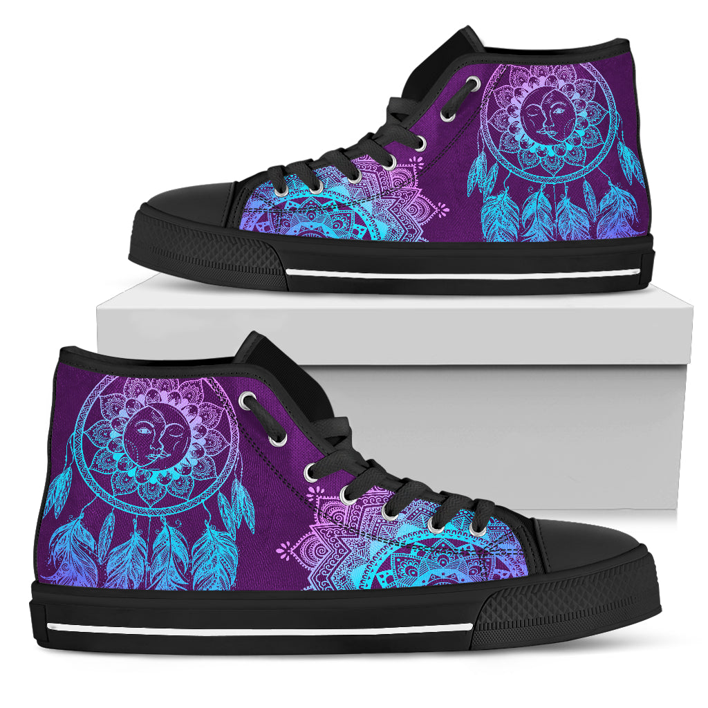 Purple and native high top black sole - JaZazzy