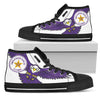 Englewood HS Classic High Top, Women or Men_Black and White - JaZazzy
