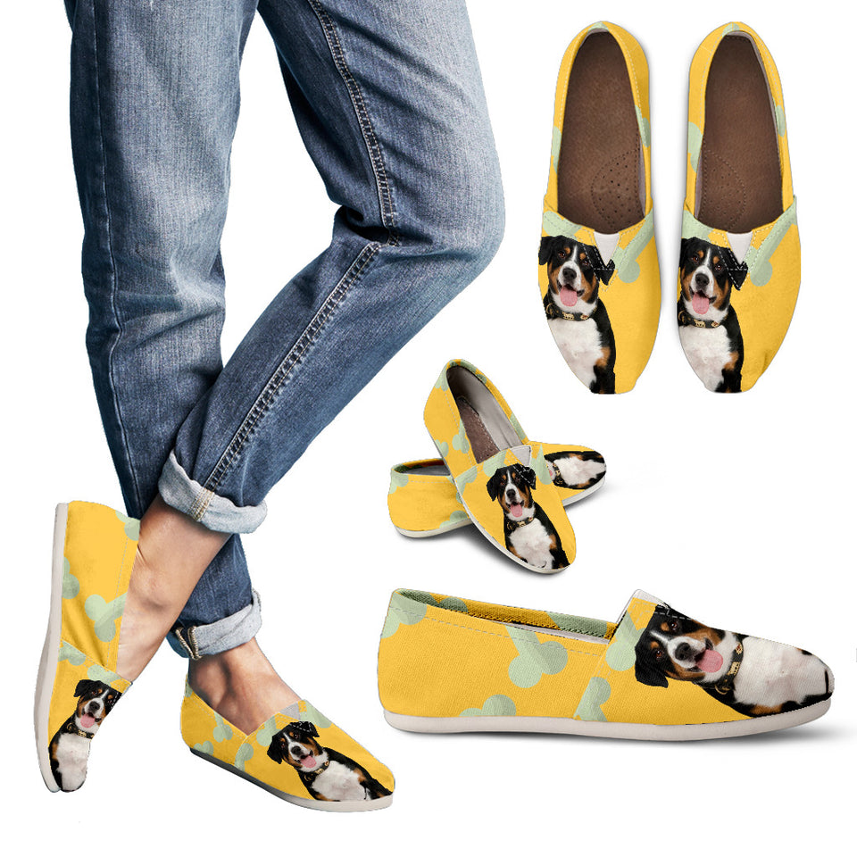 dog casual yellow Women's Casual Shoes - JaZazzy