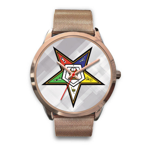 Order Of The Eastern Star Inspired Rose Gold Watch - JaZazzy