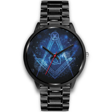 Men's Masonic Blue logo Watch - JaZazzy