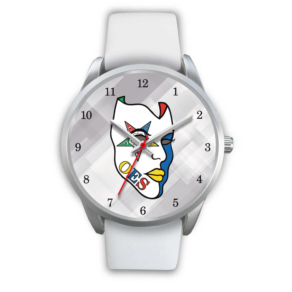 OES Mask Watch 01A  White-Silver - JaZazzy