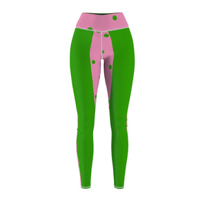 Pink and Green Women's CS Sport Leggings - JaZazzy