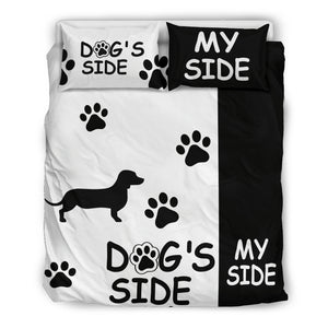 DACHSHUND DOG'S SIDE MY SIDE BEDDING SET - JaZazzy