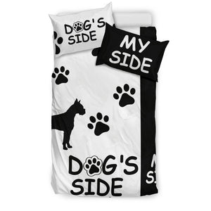 Boxer Dog's Side My Side Bedding Set-White/Black - JaZazzy