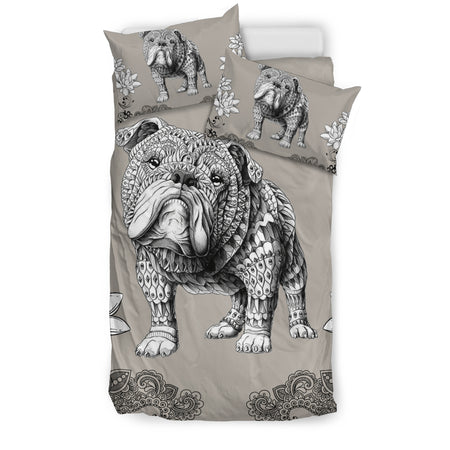 Bohemian Bulldog Bedding Set - JaZazzy