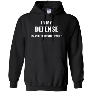 Hoodie-In My Defense_Left Unsupervised-Black - JaZazzy