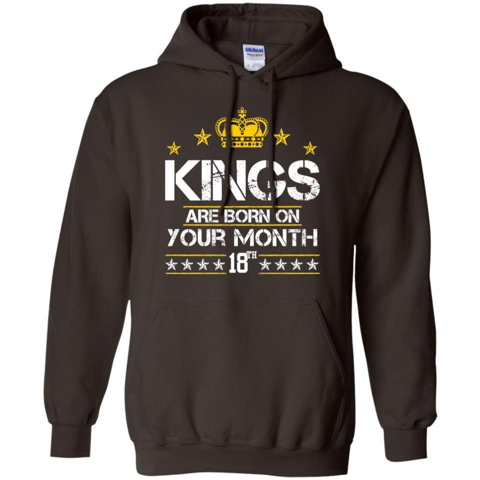 Hoodie-Kings are Born on (your month/date) - JaZazzy