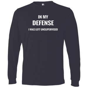 LS T-Shirt-In My Defense_Left Unsupervised-Black