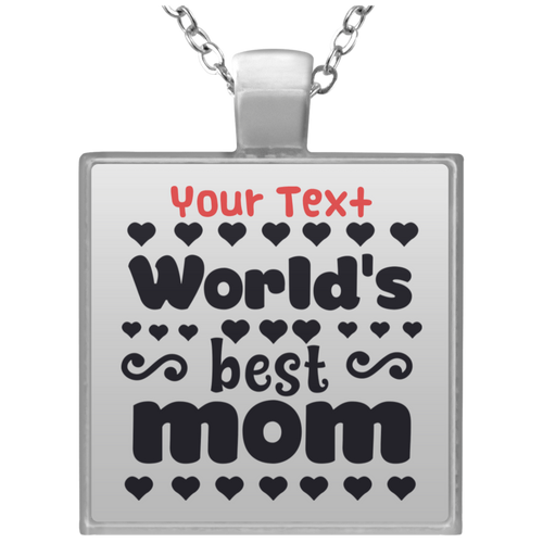Square Necklace-Mom - JaZazzy