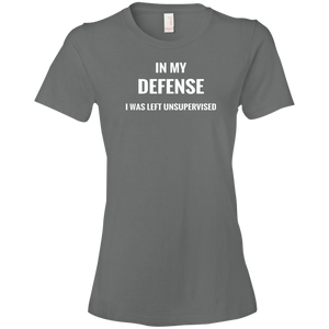 T-shirt-In My Defense_Left Unsupervised-Black