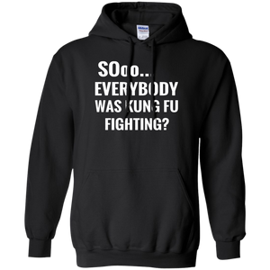 Hoodie-Sooo Everybody Was Kung Fu Fighting-Black - JaZazzy