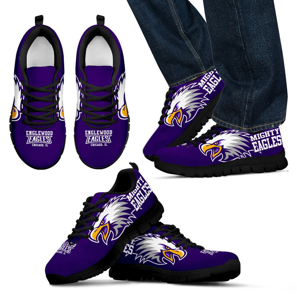 Englewood H.S. Chgo Sneaker- Purple Eagle-Blk_Men - JaZazzy