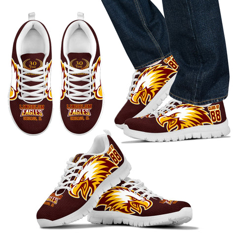 Lindblom Eagles, Chicago c/o 88-30th yr Limited Edition Sneaker -Men - JaZazzy