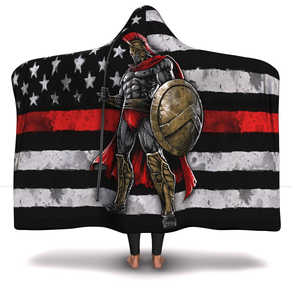 Fire Fighter-Warrior Hooded Blanket - JaZazzy