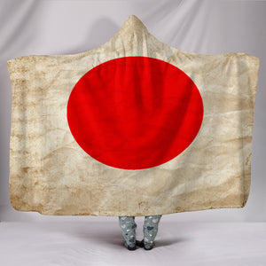 Hoodie Blanket - Japanese Flags_White-Red - JaZazzy