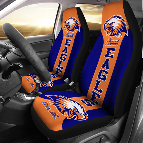 DREW H.S. Navy-Orange Car Seat Cover-v1 - JaZazzy