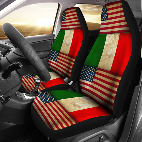 JZP Flag American-Italian Seat Cover 01A - JaZazzy