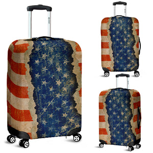 Ripped Flag Luggage Cover-Red/White/Blue - JaZazzy