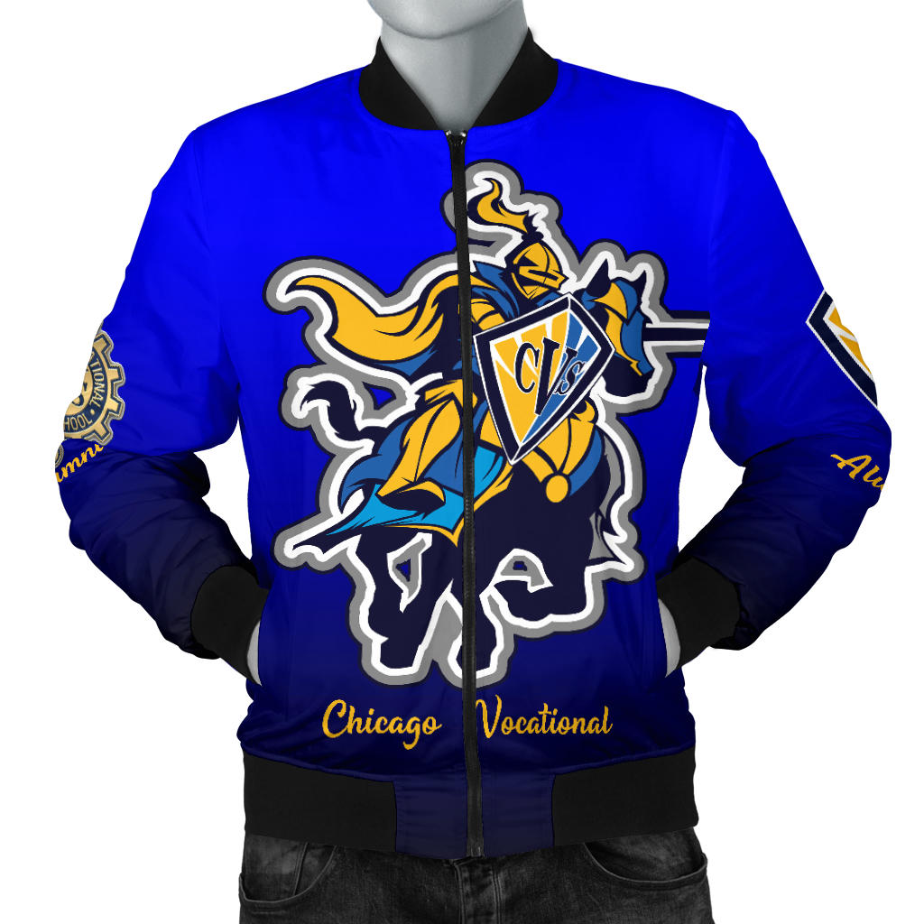 Chicago Vocational CVS BLUEBLEND Bomber Jacket_Men - JaZazzy