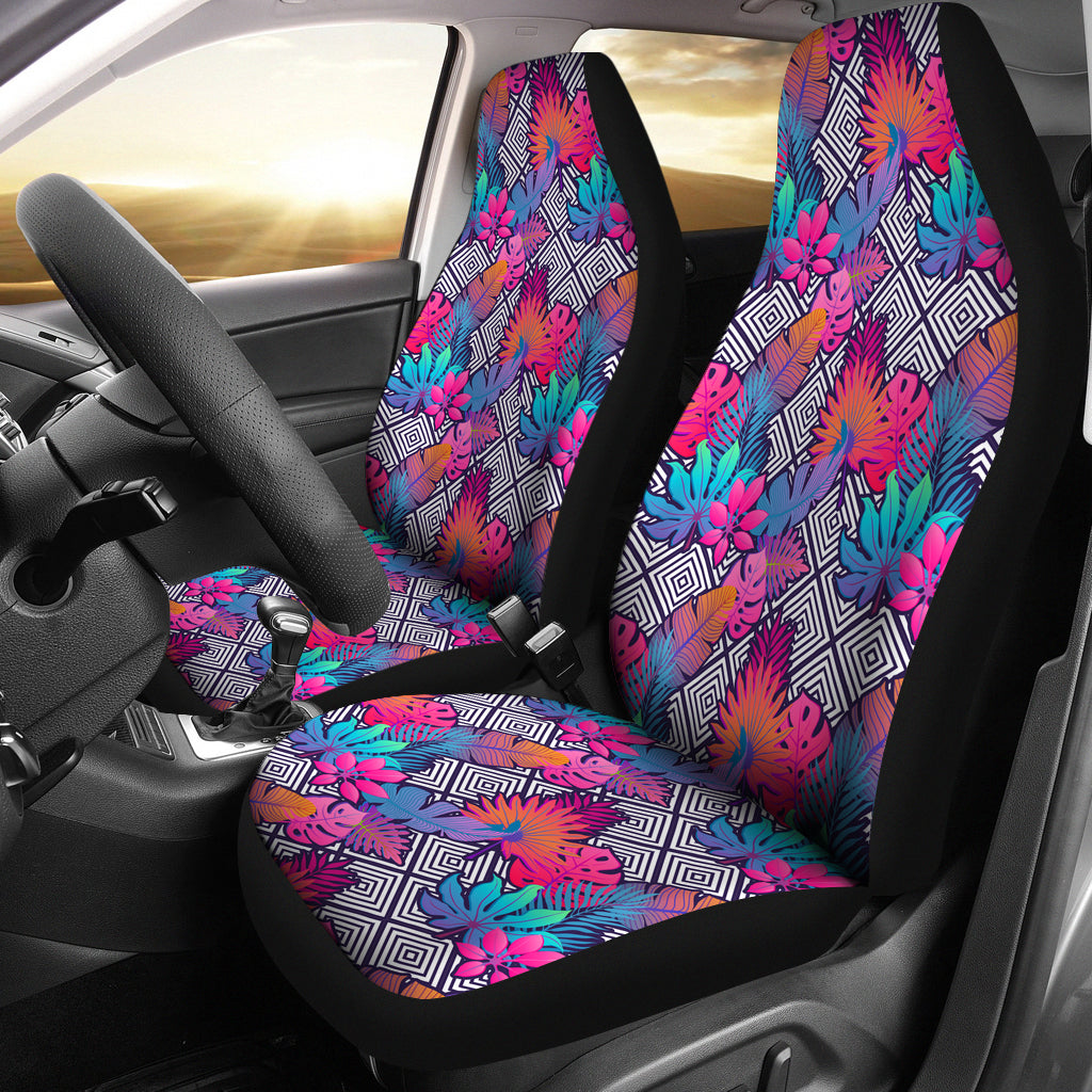 Boho Tropical Leaves Car Seat Covers - JaZazzy