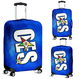 OES Luggage Cover_NC Special Editon-Blue Sq - JaZazzy