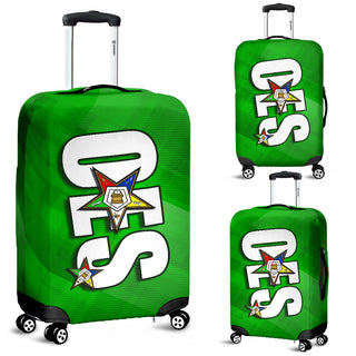 OES Luggage Cover 1C  Green SQ - JaZazzy