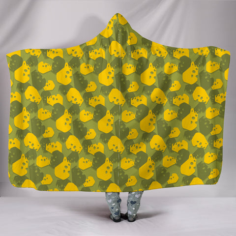 Cheese Head Camo Hooded Blanket - JaZazzy