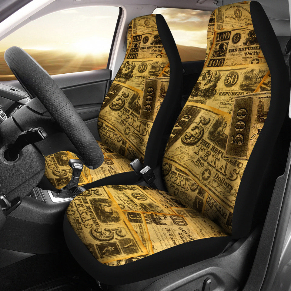 Republic of Texas-Money Car Seat Cover 414A - JaZazzy