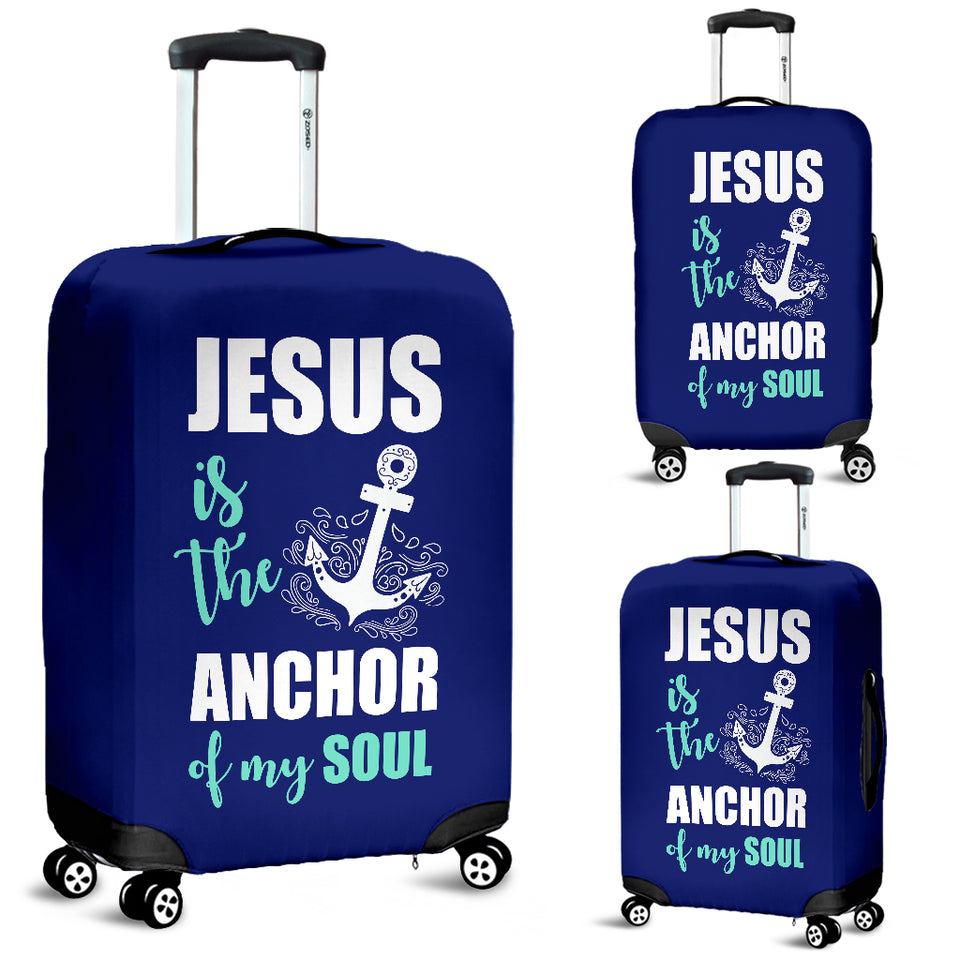 NP Jesus Is The Anchor Luggage Cover - JaZazzy