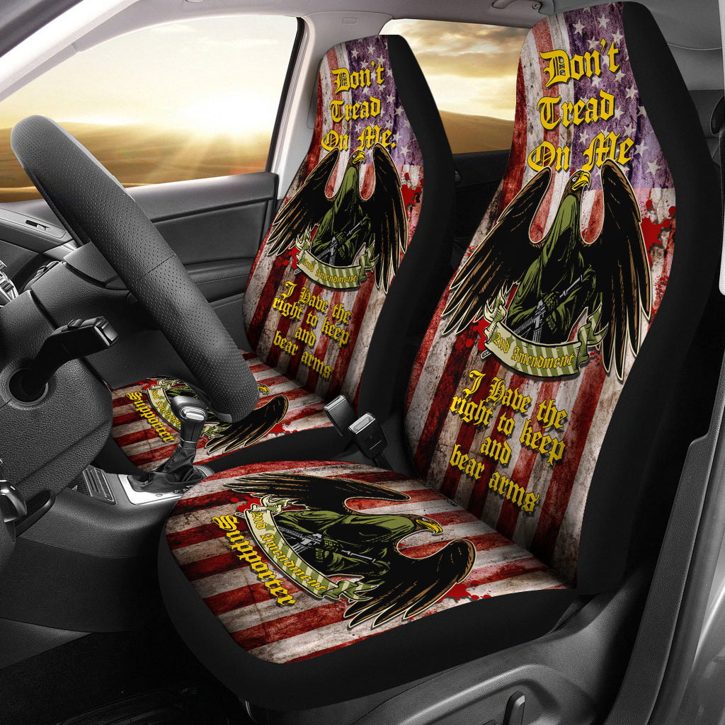 2nd Amendment Supporter Car/SUV Seat Cover v1B - JaZazzy