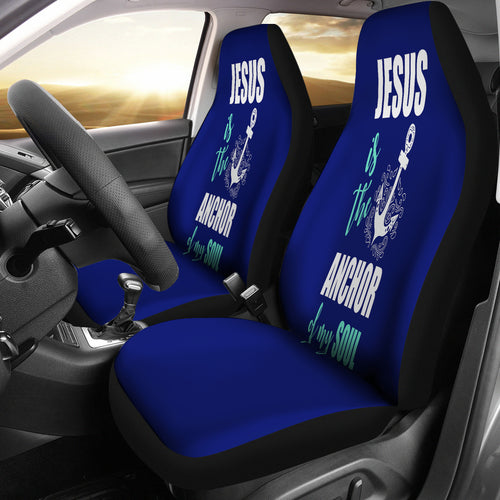 NP Jesus Is The Anchor Car Seat Cover - JaZazzy