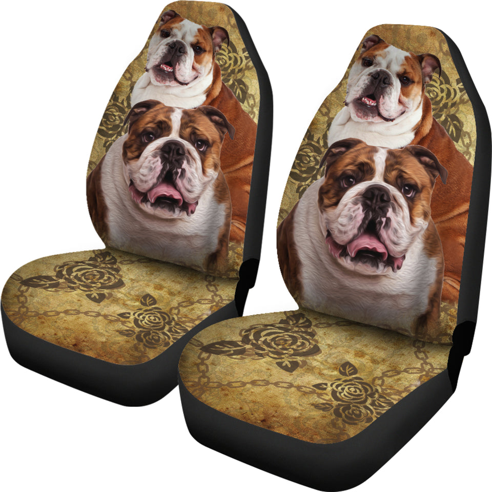 Bulldog Car Seat Covers (Set of 2) - JaZazzy