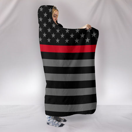 Thin Red Line Hooded Blanket - JaZazzy