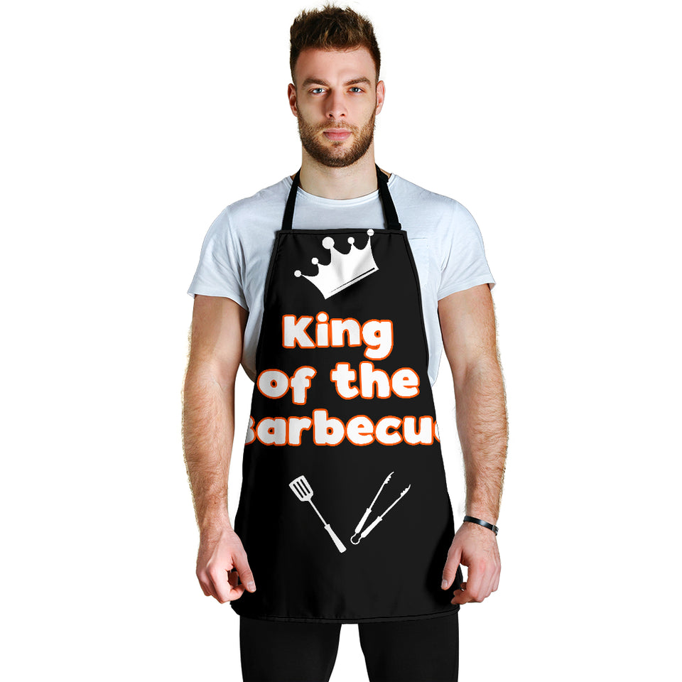 King of the Barbecue Men's Apron - JaZazzy