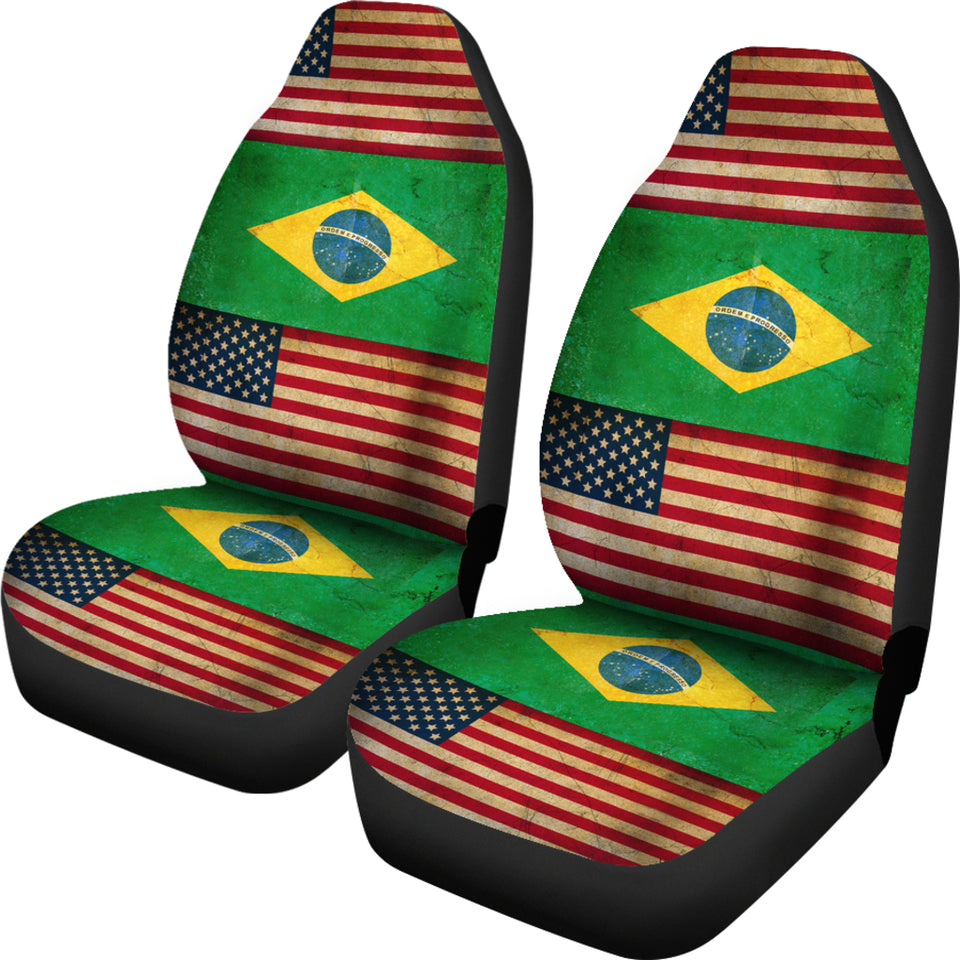 Jzp American Brazilian Flag Car Seat Cover 210a Jazazzy