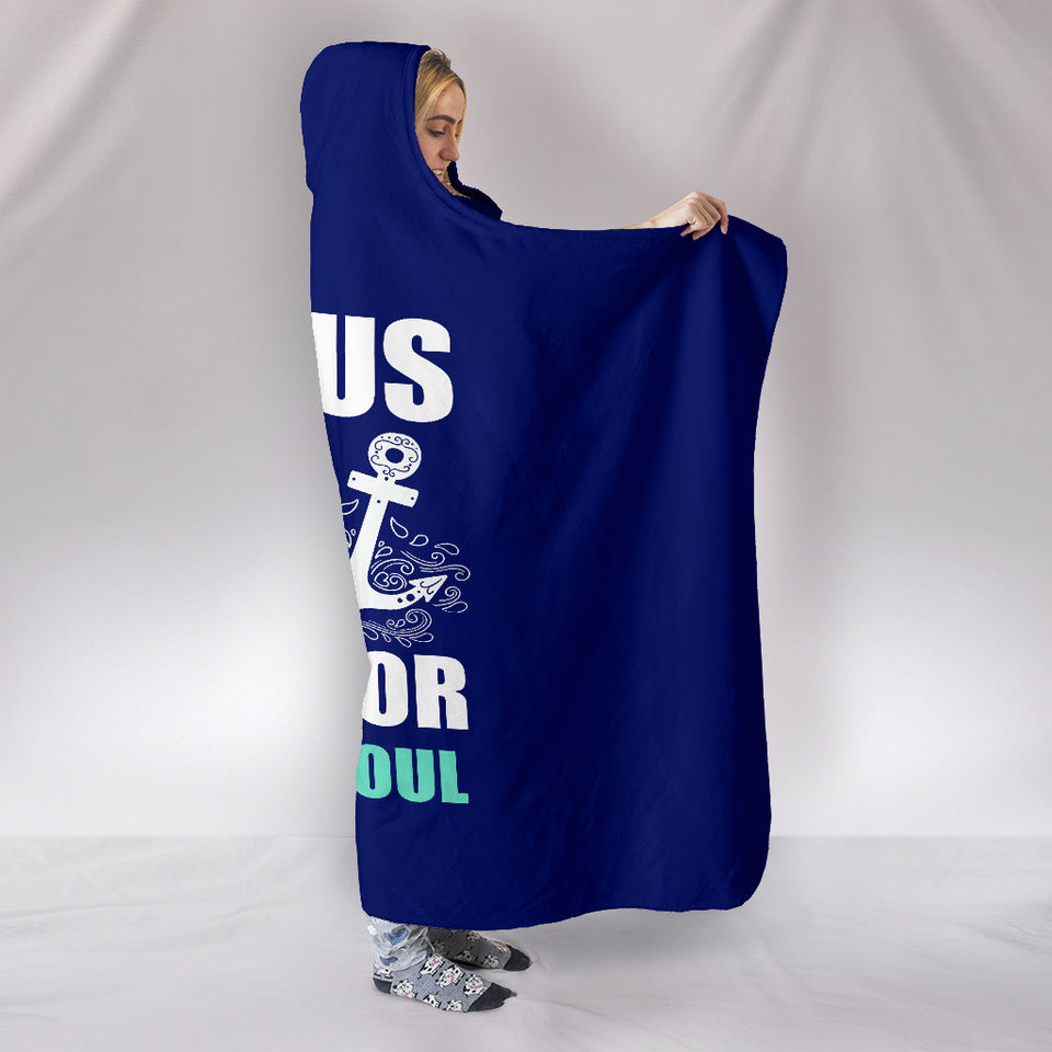 NP Jesus Is The Anchor Hooded Blanket - JaZazzy