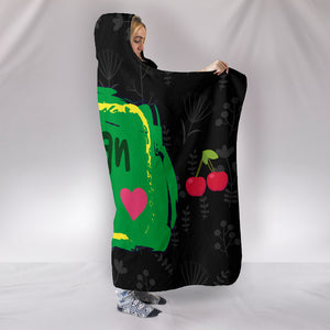 Vegan AF Hooded Blanket for Healthy Vegans_Black - JaZazzy