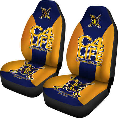 Chicago Vocational-C4L-Car/SUV Seat Cover01 Gold - JaZazzy