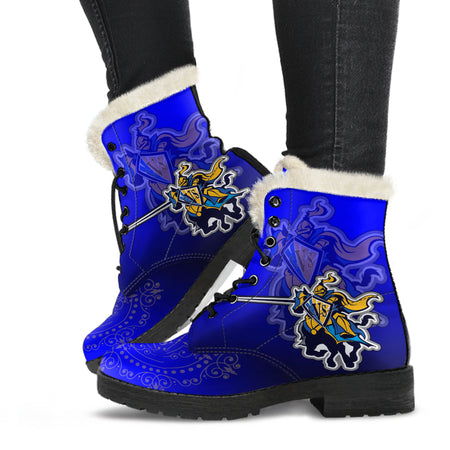 CVS Blended Blue v1F Faux Fur Leather Boot - JaZazzy