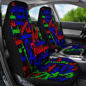 Custom-Made Holy Bible Books Mixed Colors Car Seat Cover - JaZazzy