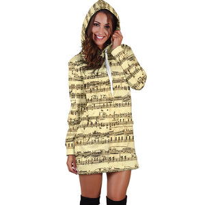 Sheet Music Women's Hoodie Dress - JaZazzy