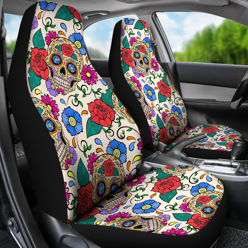 Sugar Skull Seat Covers - JaZazzy