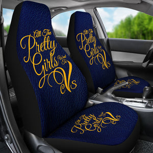 All the Pretty Girls-CVS -Car Seat Cover 01A-Blue - JaZazzy
