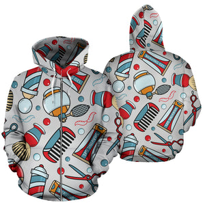 BARBER TOOLS ZIP-UP HOODIE - JaZazzy