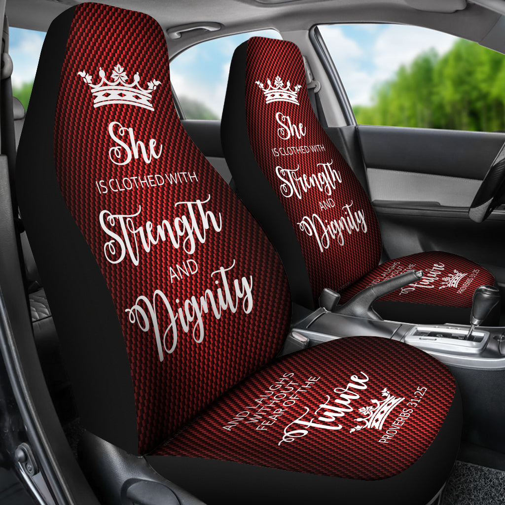 Proverbs 31 Woman Car Suv Seat Cover Red White Jazazzy