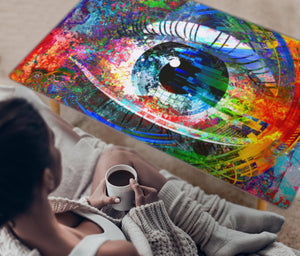 HandCrafted Abstract Digital eye Coffee Table - JaZazzy