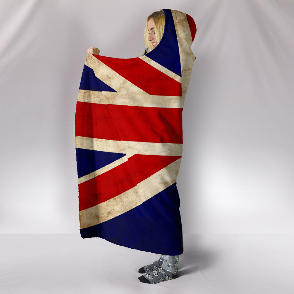 Hoodie Blanket - British Flag_Red-White-Blue - JaZazzy