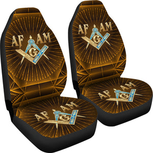 AF-AM  Masonic Gold Mystical-Car Seat Cover - JaZazzy