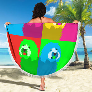 Old English Sheepdog Beach Blanket - JaZazzy